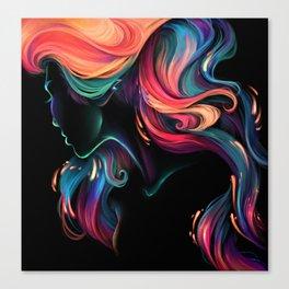 Deep Sea Neon Canvas Print