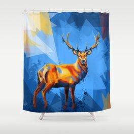 Deer in the Wilderness Shower Curtain