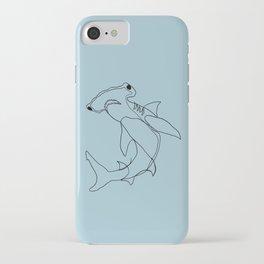 Hammerhead Shark (blue) iPhone Case
