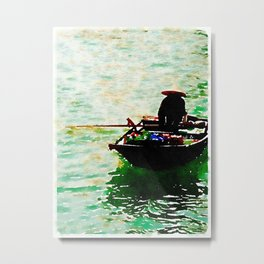 Row Boat in Vietnam Metal Print