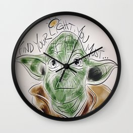 Find Your Light, You Must Wall Clock