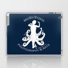 MadSea Nymph, white on blue Laptop & iPad Skin