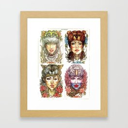 Beauties and the Beasts Framed Art Print