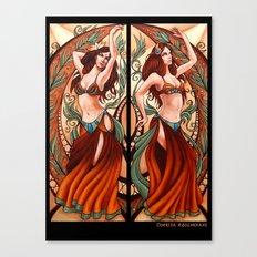 Bellydance Poster- Orange Canvas Print