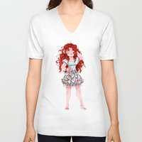 merida V-neck T-shirts featuring Merida  by Kiome-Yasha