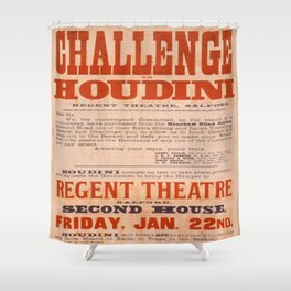 Vintage poster - Challenge Houdini Shower Curtain