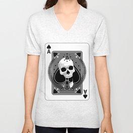 Skull Ace of Spades Unisex V-Neck