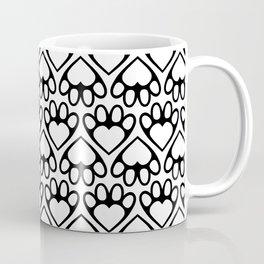 Paw Prints on my Heart - in White Coffee Mug