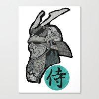 samurai Canvas Prints featuring Samurai by  Steve Wade ( Swade)