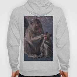 Mother and Baby Macaque Monkey Hoody