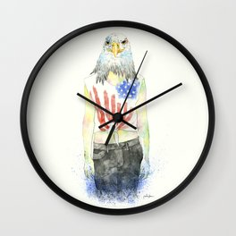 Mujer América Wall Clock