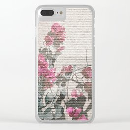 Shabby Chic Style Floral Photo Clear iPhone Case