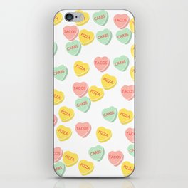 Funny Conversation Hearts Candy iPhone Skin
