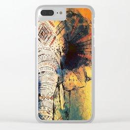 Mandala Elephant Paint Clear iPhone Case