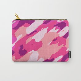 pink purple and soft pink camouflage graffiti painting abstract background Carry-All Pouch