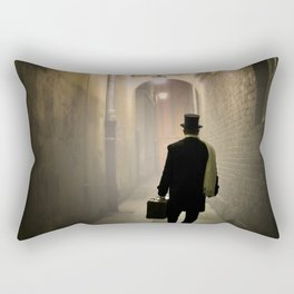 Victorian man with top hat Rectangular Pillow