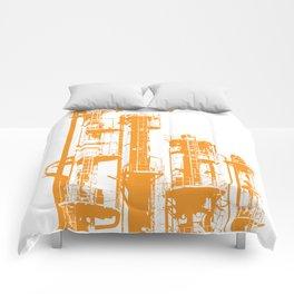 Factory Jump (orange) Comforters