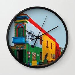 La Boca, Buenos Aires, Argentina Travel Artwork Wall Clock