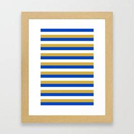 Kosovo flag stripes Framed Art Print