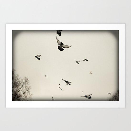 inhabitants of the sky Art Print