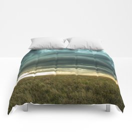 Filling the Void - Layered Storm in Western Nebraska Comforters