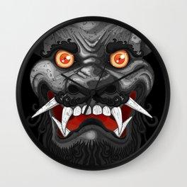 Happy Lion (Black) Wall Clock