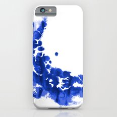 Paint 9 abstract indigo watercolor painting minimal modern canvas affordable dorm college art  Slim Case iPhone 6s