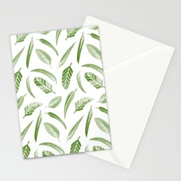 Leaf Pattern - Green Stationery Cards