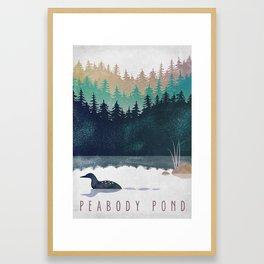 Loon on Peabody Pond Framed Art Print