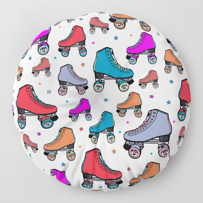 Roller derby colorful Floor Pillow