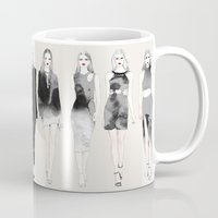 coven Mugs featuring On Wednesdays We Wear Black by Sara Eshak
