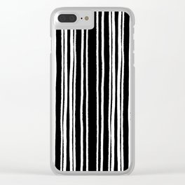 Lines and Curves White/Black Palette Clear iPhone Case