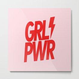 GRL PWR - GIRL POWER 8 - in Red Metal Print