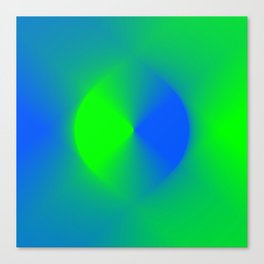 Blue and Green Burst Canvas Print