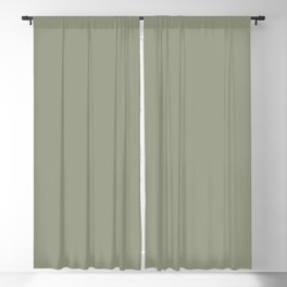 Dark Pastel Sage Green Solid Color Parable to Tuscan Olive 5004-2A by Valspar Blackout Curtain