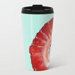 Strawberry on Mint Travel Mug