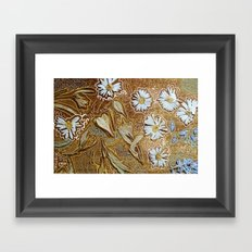 dried flowers and photoshop Framed Art Print