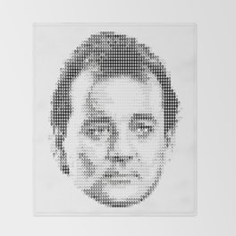 Bill Murray Groundhog Day Meta Portrait  Throw Blanket