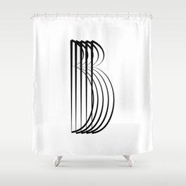 """ Eclipse Collection"" - Minimal Letter B Print Shower Curtain"