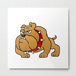 brown bulldog Metal Print