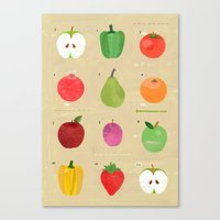 fruit Canvas Prints featuring Fruit by Jessie Ford