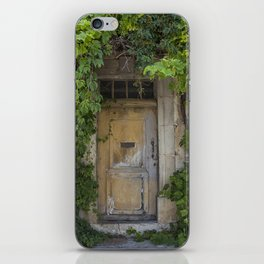 Provence Door covered with green vines iPhone Skin