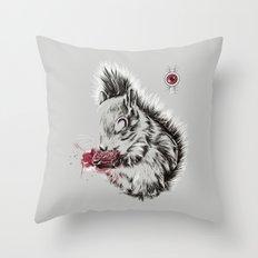 Zombie Squirrel Throw Pillow