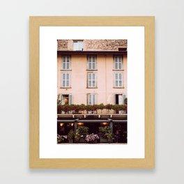 Bergamo street Framed Art Print