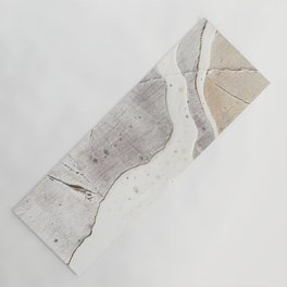 Feels: a neutral, textured, abstract piece in whites by Alyssa Hamilton Art Yoga Mat