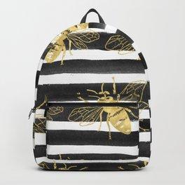 Golden bee noir Backpack