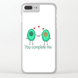 Avocado You Complete Me Kitchen Foodie Besties Clear iPhone Case