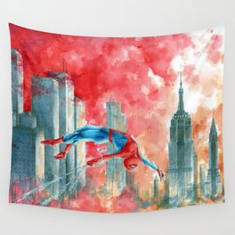 VERSE#1: Dawn in NY Wall Tapestry