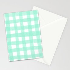 Gingham Mint Stationery Cards