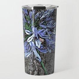 Blue Agapanthus Flower Travel Mug